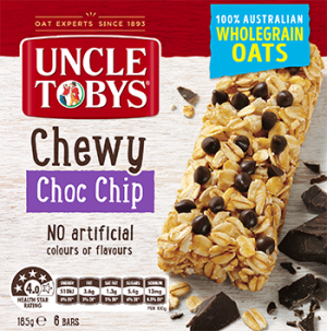 Uncle Tobys Muesli Bar Chewy Choc Chip