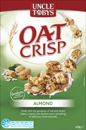 Uncle Tobys Oat Crisp Almond