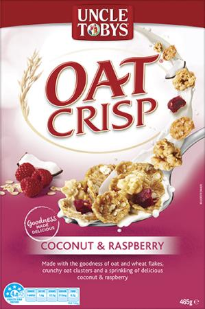 Uncle Tobys Oat Crisp Coconut & Raspberry