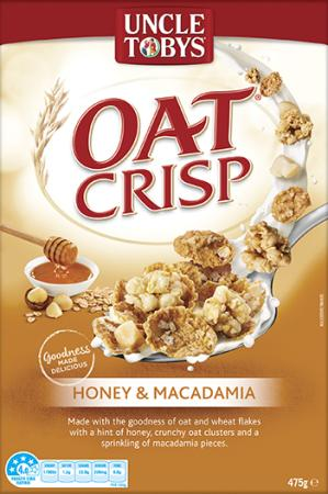 Uncle Tobys Oat Crisp Honey & Macadamia