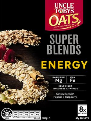 Uncle Tobys Oats Super Blends Energy