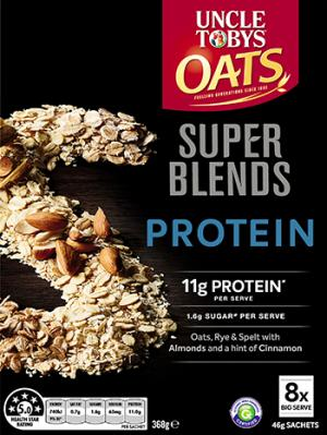 Uncle Tobys Oats Super Blends Protein Almond