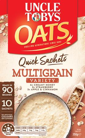 Uncle Tobys Quick Sachets Multigrain Variety Pack