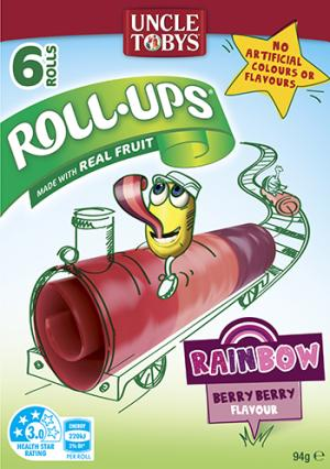 Uncle Tobys Roll Ups Rainbow Berry Berry