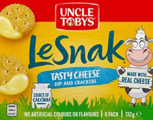 Uncle Tobys Le Snak Tasty Cheese
