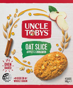 Uncle Tobys Oat Slice Apple and Cinnamon