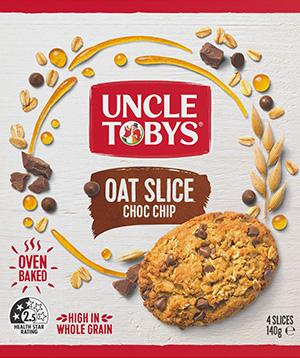 Uncle Tobys Oat Slice Choc Chip