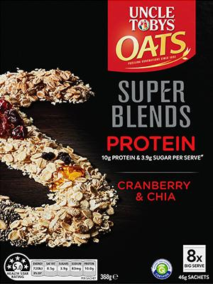Uncle Tobys Oats Super Blends Protein Cranberry & Chia