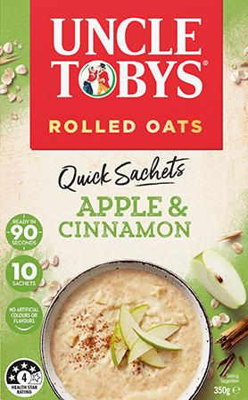 Uncle Tobys Quick Sachets Apple & Cinnamon
