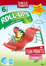 Roll-ups® Funprint Strawberry